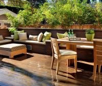 Pictures Of Built In Patio Benches - Patio Ideas