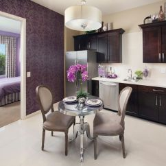 Small Round Dining Table And Chairs Chair Cover Rentals Victoria Bc The Colonnade Apartments Phoenix For Transitional Room Also Dark Wood Cabinets ...