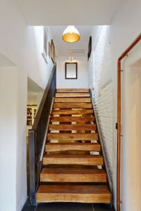 Thick Stair Treads Contemporary Staircase and Art Blocky ...