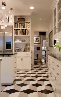 What is Vinyl Flooring for Modern Kitchen and Black and