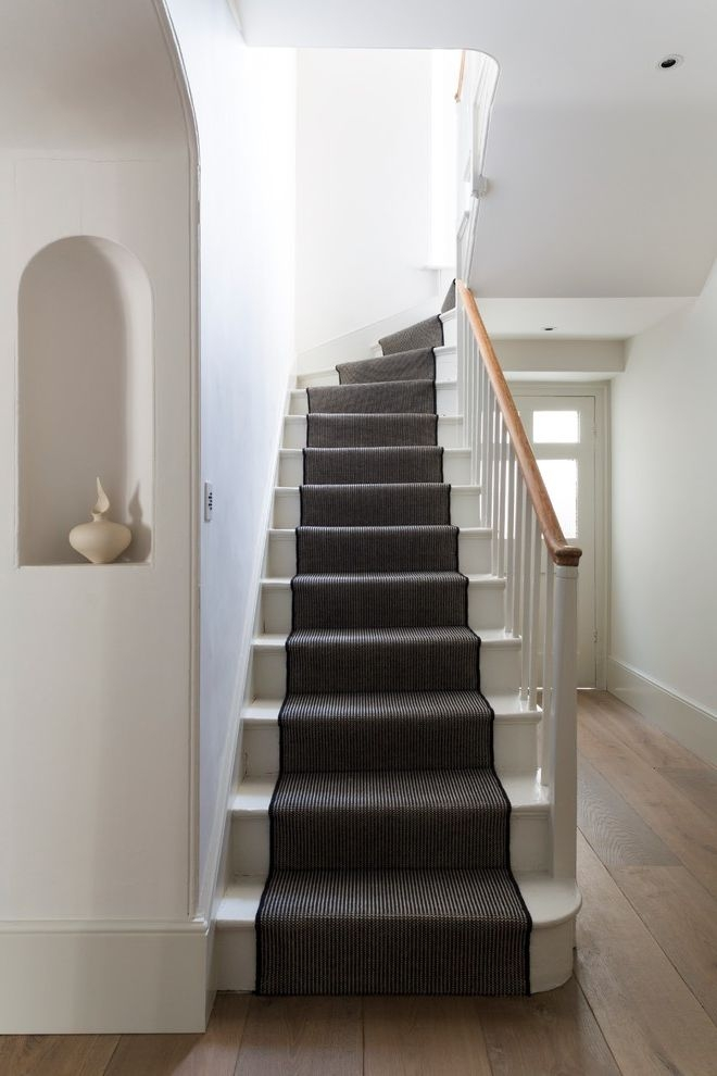 Replacing Carpet On Stairs Victorian Staircase And Black And White | Black And White Stair Runners | Staircase | Hallway | Cool | Diy | Jute