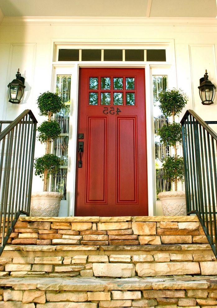 Home Depot Bethesda Traditional Entry And Front Door Front   Indoor Wrought Iron Railings Home Depot   Balusters   Wood   Iron Stair Rail   Stair Parts   Front Porch Railings