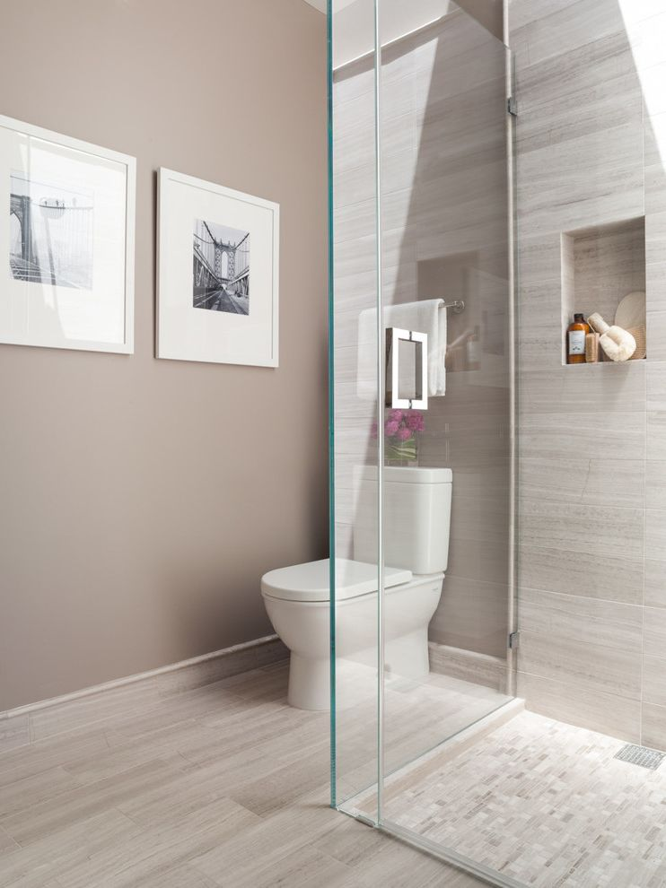 Mariano S Near Me With Contemporary Bathroom Also Beige Walls Black And White Photography Frameless Glass Shower Pink Flowers Shower Enclosure Shower Niche Tile Baseboard White Toilet Finefurnished Com