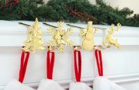 Stocking Hangers, Mantle Hooks, Christmas Stocking Holders
