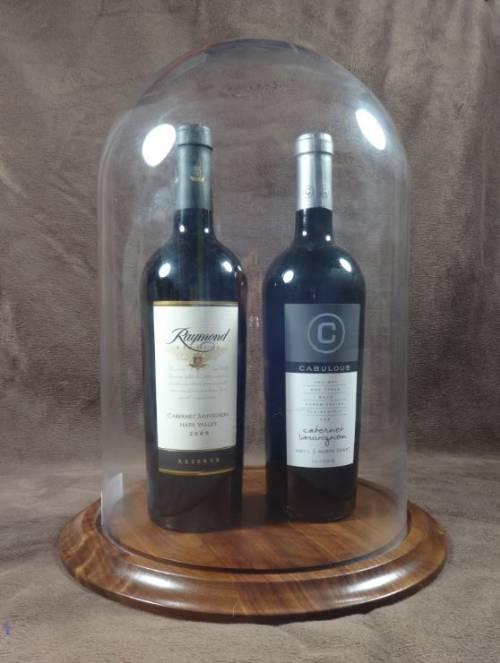 Wine Display  Glass Dome 10 x 15H Multi Bottle