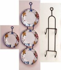 """Wrought Iron Plate Hanger - Vertical - 7 to 9"""" Plates ..."""
