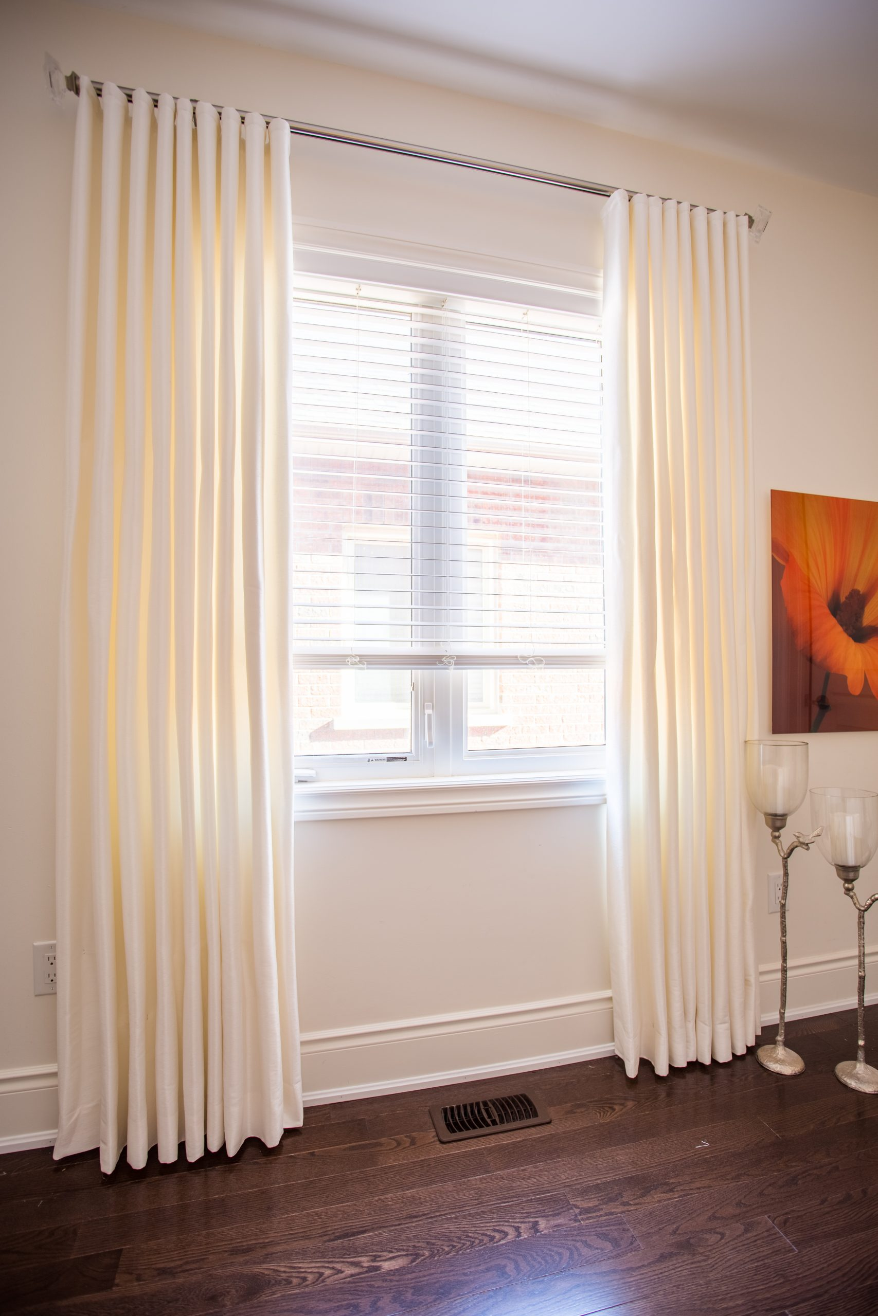 Silk Ripple Fold Drapes In White