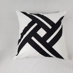 black ribbon Cushion