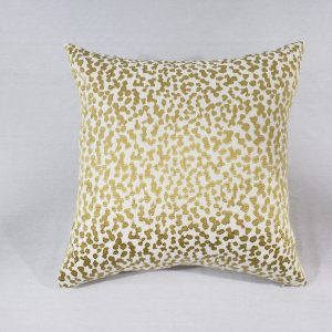 A Yellow embroidered animal print cushion