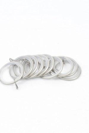 Pewter drapery rod rings