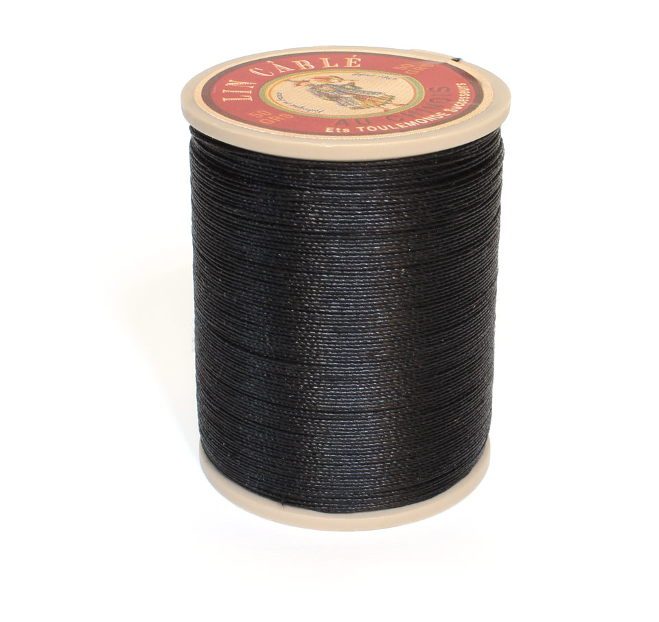 Linen Thread: Black