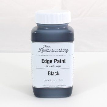Leather Edge Paint: Black