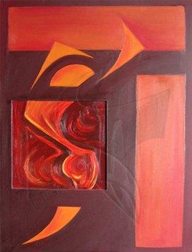 Еротика - маслена живопис от Fineluart, художник-сюрреалист