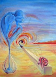 Отвъд - сюрреализъм с маслени бои