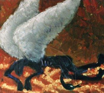 Паднал ангел - маслена картина по поръчка