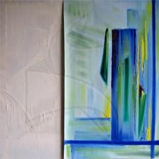 Пластове от монолит ІІ - абстрактна маслена живопис