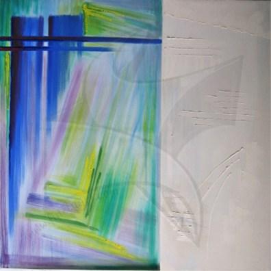 Пластове от монолит ІІІ - маслена картина