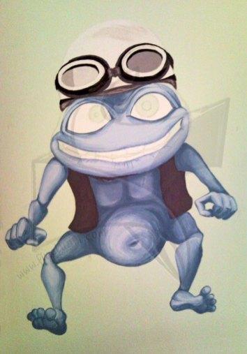 Crazy frog - рисунка върху стена