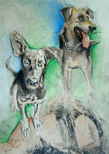 Картина 4 от арт проект живопис Кучето от южния квартал