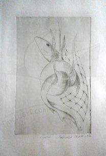 Мрежи 3 – Акула, офортна техника
