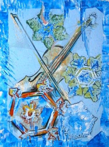 4 сезона лед - живопис, смесена техника