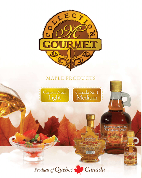 M GOURMET COLLECTION Quebec Pure Maple Syrup Canada NO1