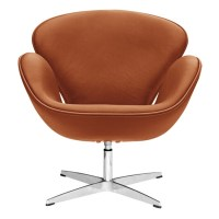 Swan Chair Light Brown Leather