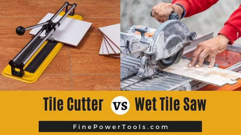 tile cutter vs wet tile saw pros
