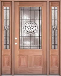 Finer Doors | Texas Star 3/4 Lite Mahogany Prehung Wood ...