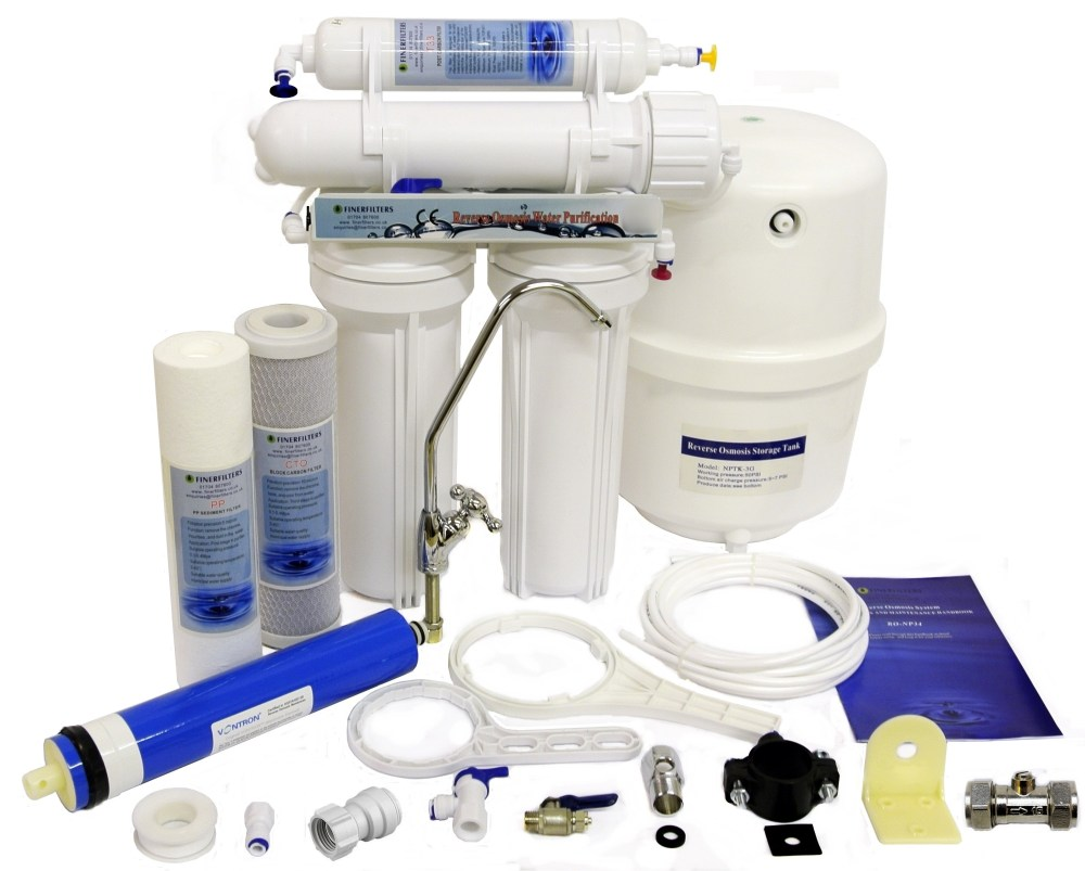 medium resolution of domestic under sink 4 stage reverse osmosis system with fluoride removal 50 gpd finerfilters