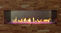 Carol Rose 60 Inch Linear Outdoor Fireplace | Fine's Gas