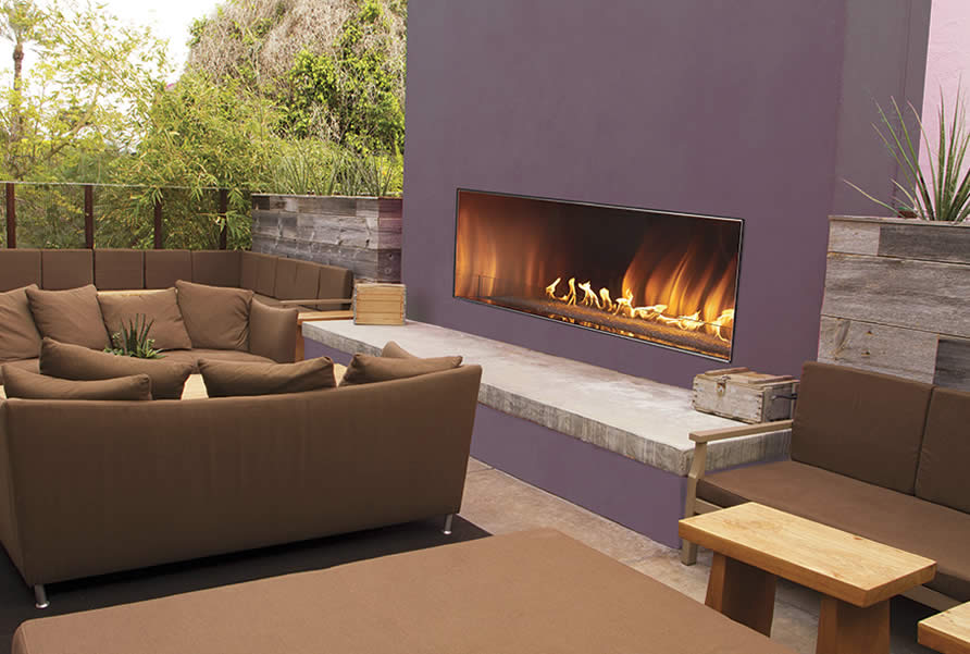 Carol Rose 48 Outdoor Linear Fireplace  Fines Gas