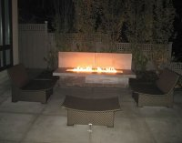 Electronic Ignition Rectangle Gas Fire Pit Kits | Fine's Gas