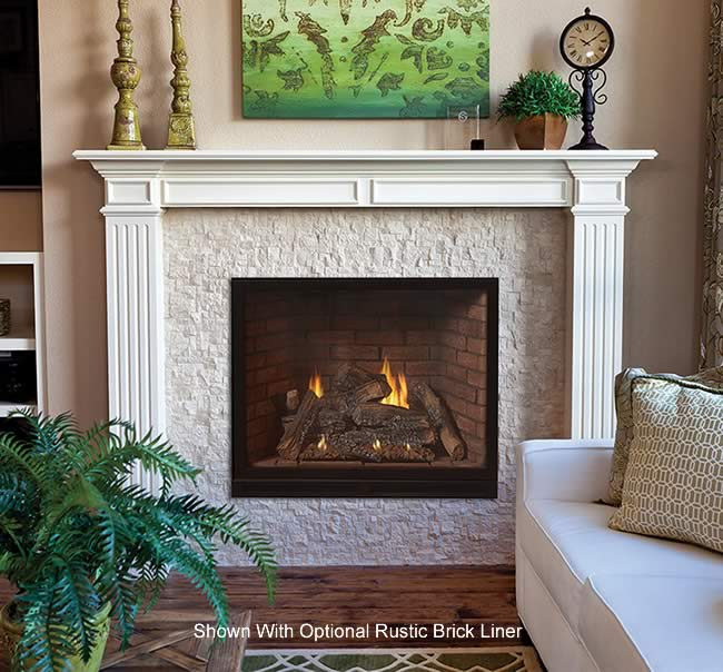 Tahoe Luxury 42 Inch Clean Face Direct Vent Fireplace