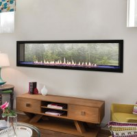 Boulevard See-Through 60 Inch Vent Free Linear Fireplace ...