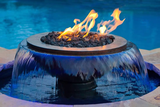 Evolution 360 Gas Fire Pit With Water Feature Fine S Gas