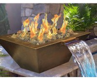 Outdoor Gas Fire Pit With Built-In Water Feature | Fine's Gas