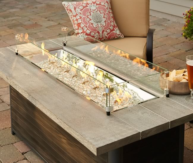 Linear Fire Pit Wind Guards  Fines Gas