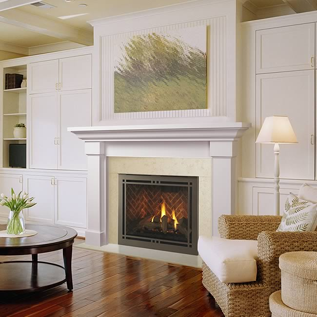 Meridian 42 Fireplace by Majestic  Fines Gas