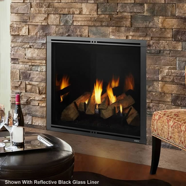 Marquis II 42 Inch Clean Face Direct Vent Fireplace by Majestic  Fines Gas