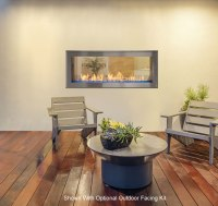 Artisan See-Through Vent Free Linear Fireplace | Fine's Gas