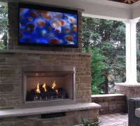 """42"""" Outdoor Gas Fireplace Electronic Ignition"""