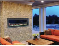 Outdoor Luminary Linear Gas Fireplace By Superior | Fine's Gas