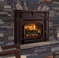 Quadra-Fire Voyageur Grand Wood Fireplace Insert With ...