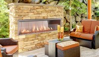 """Superior 60"""" Outdoor Linear Fireplace 