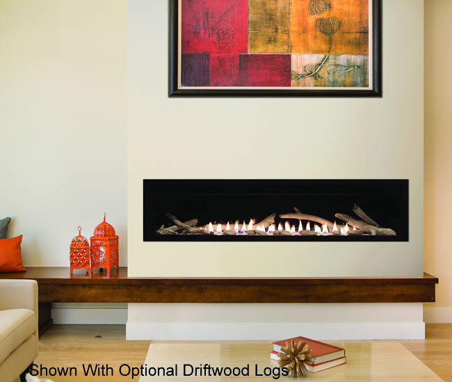 Boulevard 60 Inch Vent Free Linear Fireplace  Fines Gas