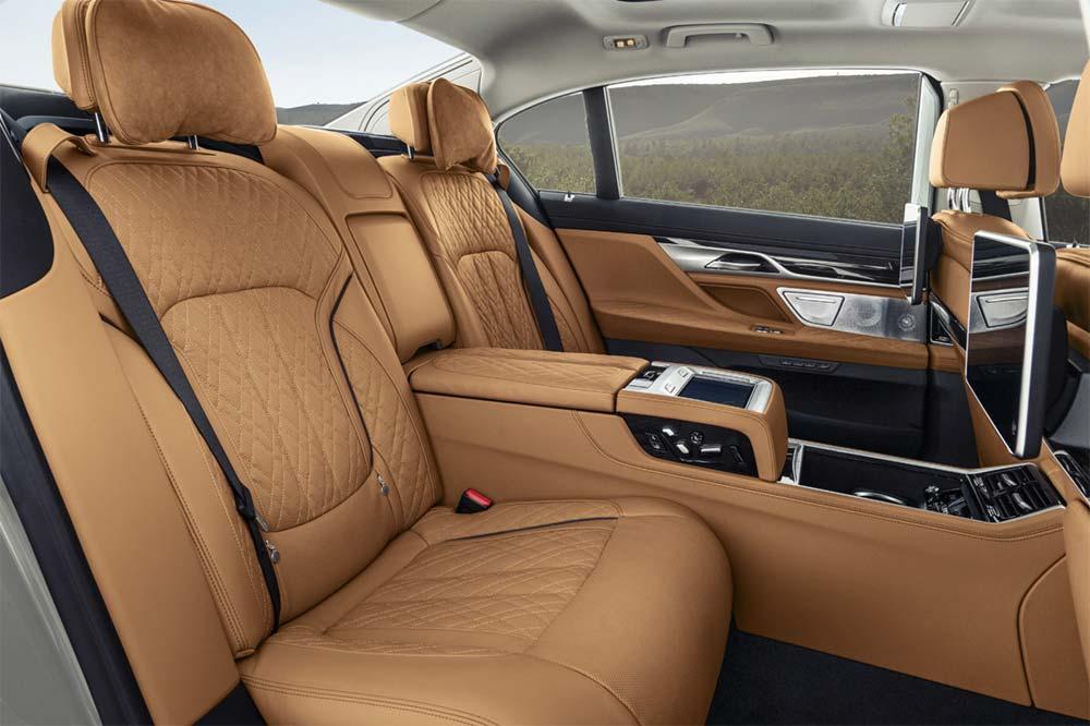 Neue BMW 7er Reihe - Interieur im Fond