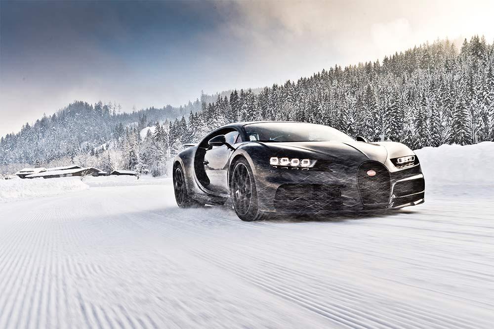 Bugatti Chiron Drifting