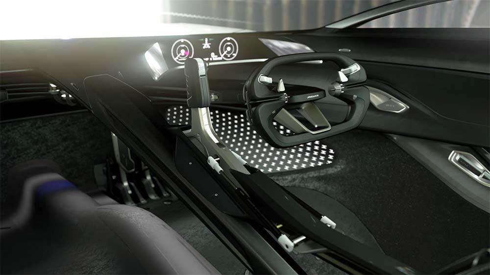 Futuristisches Interieur des Jaguar Vision Grand Turismo