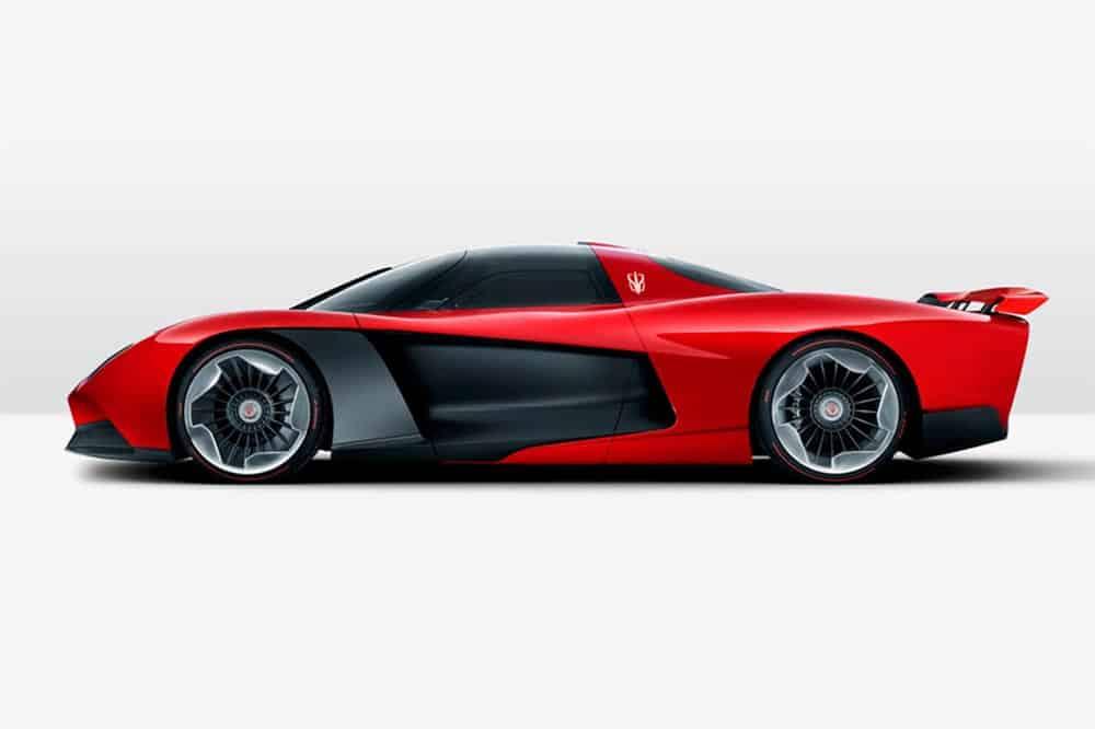 Das Hypercar fährt rein mit Elektroantrieb 40 Kilometer weit